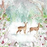 Two Deer Woods Art Print