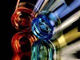 Colourful Plastic Glasses 2 Art Print