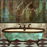 Le Bain Aqua Art Print