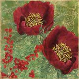 Red Christmas Roses Art Print