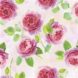 Tossed Pink Roses Art Print