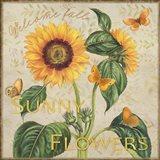 Sunny Flowers Welcome Fall Art Print