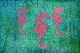 Grace Seahorses Art Print
