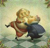 Dancing Santa and Mrs. Art Print