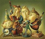 Bluegrass Boy Band Art Print