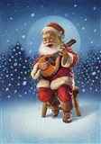 Singing Santa I Art Print
