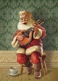 Singing Santa II Art Print