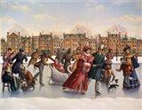 Victorian Skaters Art Print