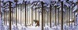 Winter Scene Man With Tree Art Print