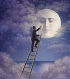 Man With Moon Art Print
