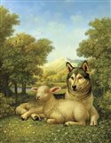 Wolf Lies Down With The Lamb Art Print