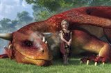 A Little Girl And Her Dragon Art Print