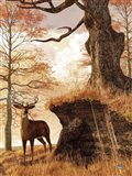 Autumn Buck Art Print