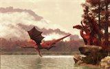 Autumn Dragons Art Print