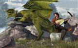 Bard And Dragon Art Print