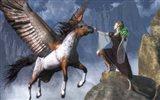 Elf Summoning A Pegasus Art Print