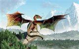 Perched Dragon Art Print