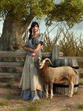 The Farmer's Daughter Art Print