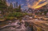 Indian Peaks Sunset Art Print