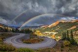 Red Mountain Rainbow Art Print