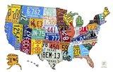 License Plate Map USA II Art Print