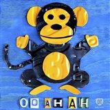 Oo Ah Ah The Monkey Art Print
