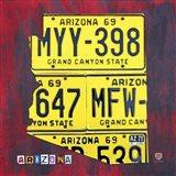 Arizona License Plate Art Print