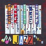 License Plate Art Jazz Series Piano I Art Print