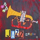 License Plate Art Jazz Series Piano II Art Print