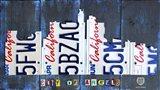 Los Angeles Skyline License Plate Art Art Print