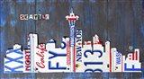 Seattle Skyline License Plate Art Art Print