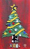 Noel Christmas Tree License Plate Art Art Print