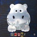 Grunt The Hippo Art Print