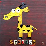 Stretch The Giraffe Art Print