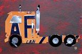 Semi Truck License Plate Art Art Print