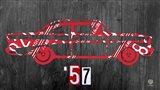 57 Chevy License Plate Art Art Print