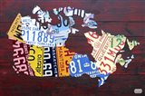Canada License Plate Map Art Print