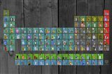 License Plate - Periodic Table Art Print