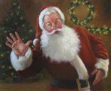 Santa Greeting Art Print