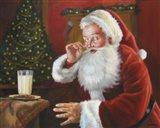 Santa Milk And Cookies Art Print