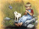 Fishing Blues Art Print