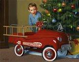 1950 Murray Fire Truck Art Print