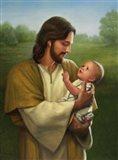 Jesus And Baby Art Print