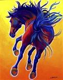 Horse Kick Up Your Heels Art Print
