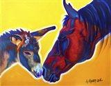 Horse Little Sister Art Print