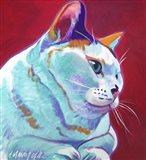 Cat - Pixie Girl Art Print