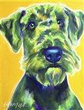 Airedale Terrier - Apple Green Art Print