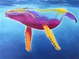 Humpback Whale - Rainbow Art Print