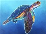 Sea Turtle - Rainbow Art Print