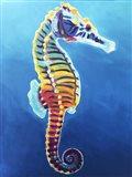Seahorse - Rainbow Art Print